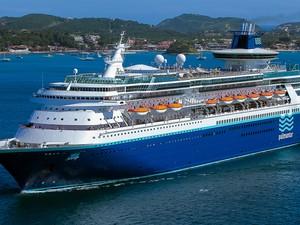O navio Sovereign (Soberano), da Pullmantur Cruzeiros, ficará no Brasil de 26 de novembro a 28 de março de 2014 (Foto: Pipo Gialluisi/Pullmantur Cruzeiros/Divulgação)