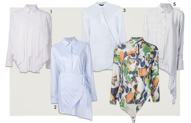 Camisas Assimétricas (Foto: Reprodução)