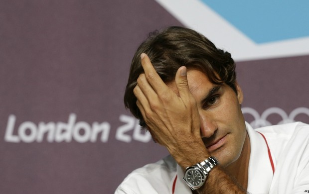 Roger Federer coletiva Londres tênis (Foto: AP)
