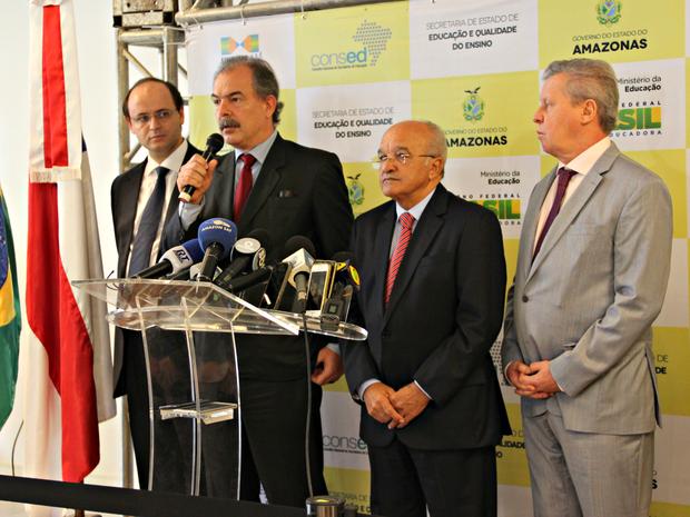 Ministro anunciou plano de ações em Manaus nesta quarta-feira (3) (Foto: Jamile Alves/ G1 AM)