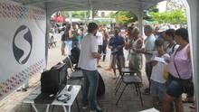 Tenda da TV Digital tira dúvidas dos moradores de Paracambi. Confira (Carmem Aguiar/ TV Rio Sul)