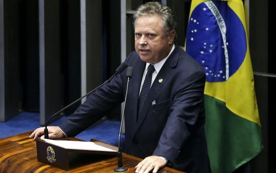 Blairo Maggi na sessão de impeachment no Senado. O empresário e senador virou o novo ministro da Agricultura (Foto: Marcelo Camargo / Agência Brasil)