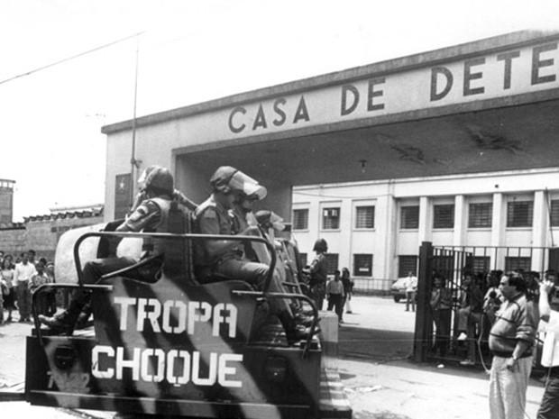 Carro do Choque entra no dia da tragédia (Foto: Arquivo/ Diário de S.Paulo)