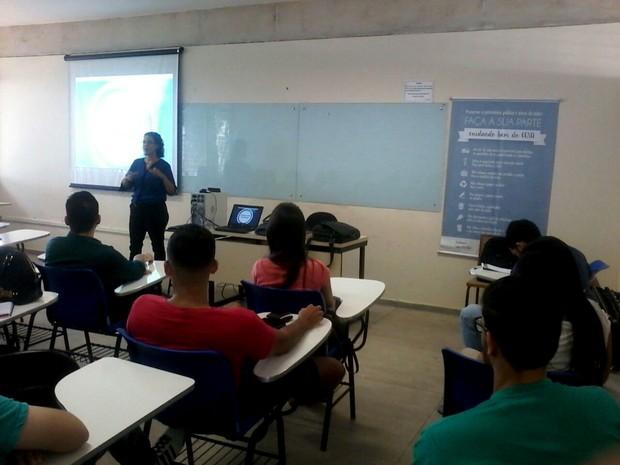 Estudantes participaram de capacitação (Foto: Divulgação/Unacon)