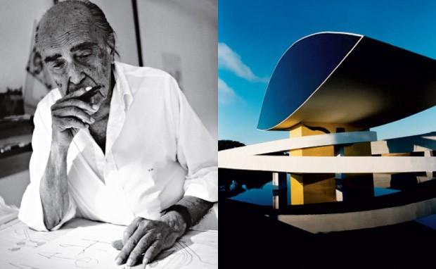 Niemeyer e o Museu Niemeyer, em Curitiba (Foto: Divulgação)