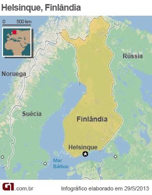 Mapa da Finlândia (Foto: Editoria de arte/G1)