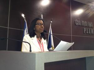 Rosário Bezerra questiona postura do prefeito de Teresina (Foto: Gilcilene Araújo/G1)