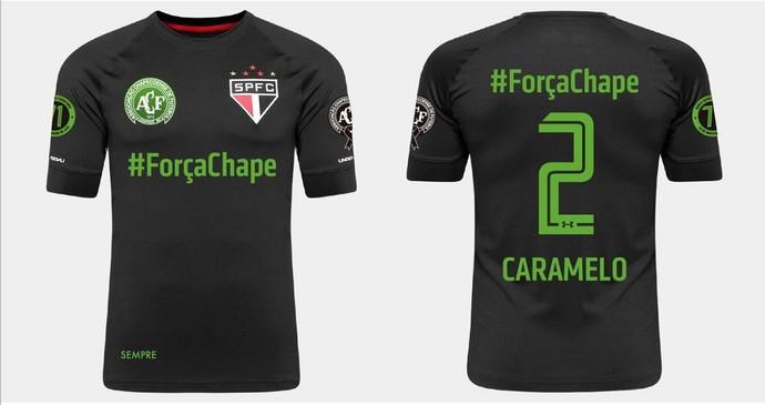 2499085886 Veja a camisa preta que o São Paulo usará em homenagem à Chape