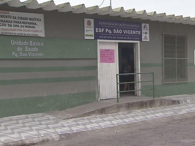 Unidade de Saúde do Parque de São Vicente (Foto: G1)