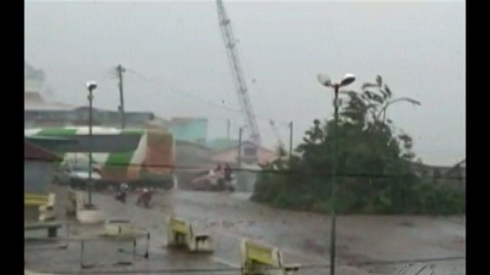 Ventos chegam a 51 km/h no município de Viseu, no Pará