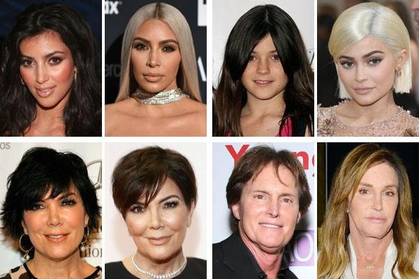 Dez anos de Kardashians: a família mais badalada da TV mudou muito na última década (Foto: Getty Images)