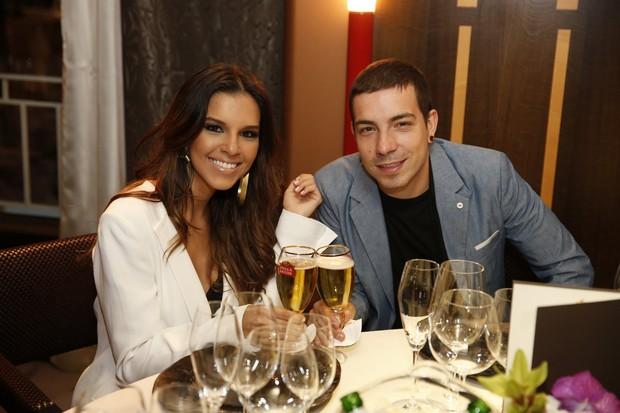 Mariana Rios e Di Ferrero em jantar em Cannes (Foto: Felipe Panfili / AgNews)
