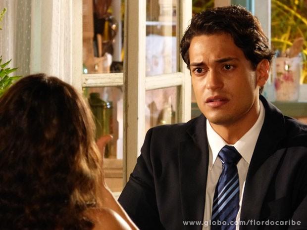 Hélio admite que fez Donato pagar pelo crime que ele cometeu (Foto: Flor do Caribe / TV Globo)