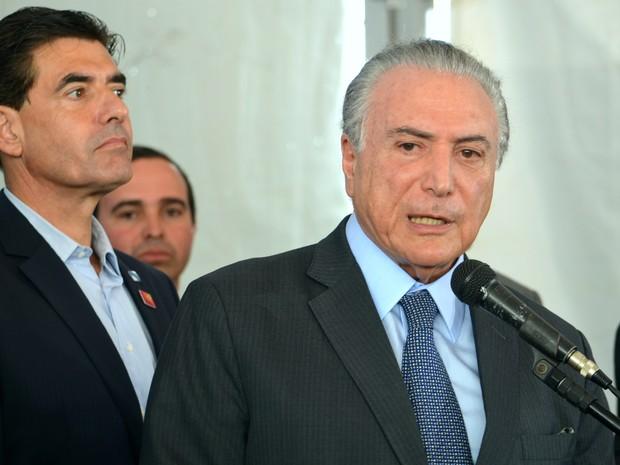 O presidente da República, Michel Temer, esteve em Ribeirão Preto para anunciar o pré-custeio do Plano Safra 2017/2018 (Foto: Gabriela Castilho/G1)