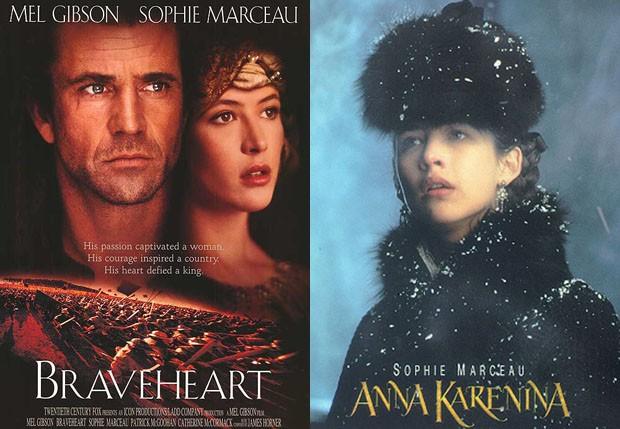 Sophie Marceau também atuou em 'Coração Valente' (1995) e 'Anna Karenina' (1997) (Foto: Reprodução)