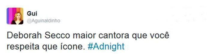 Internautas elogiam Deborah Secco no Adnight (Foto: Reprodução)