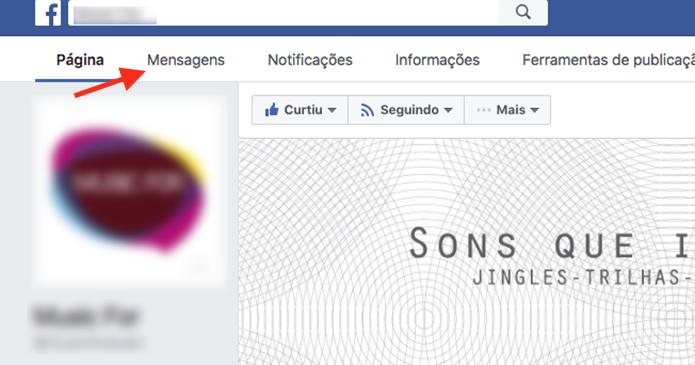 Caminho para acessar todas as mensagens recebidas em uma página do Facebook (Foto: Reprodução/Marvin Costa)