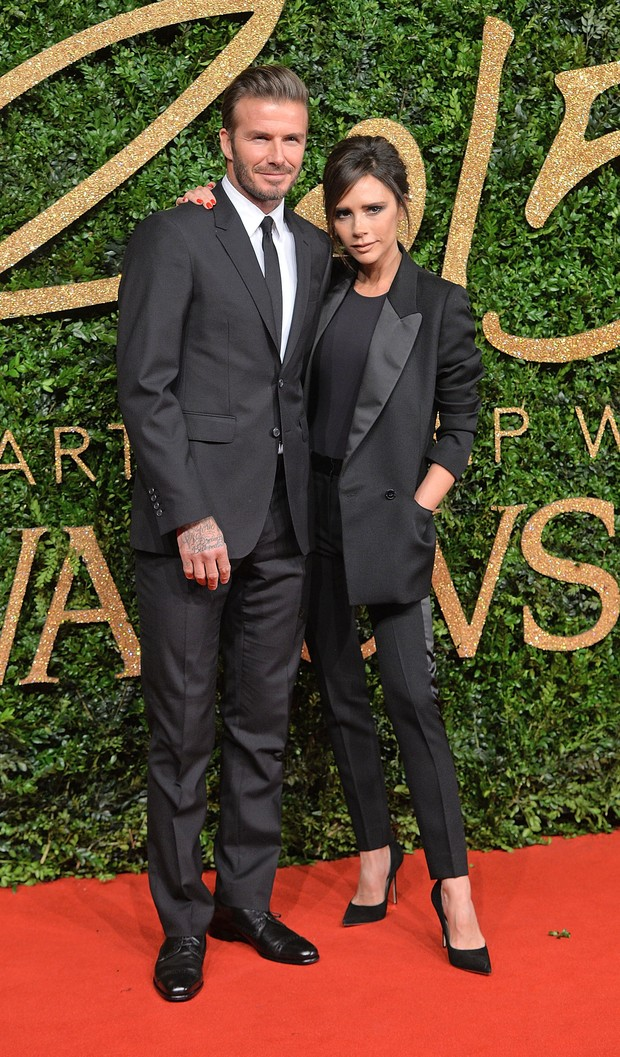 David e Victoria Beckham no British Fashion Awards (Foto: Getty Images)