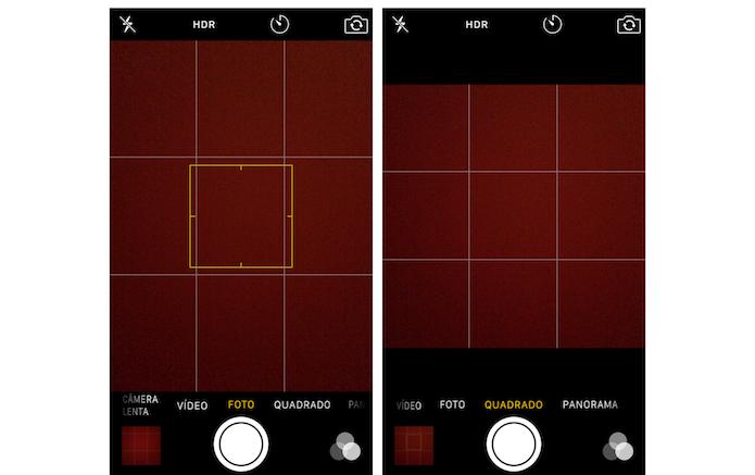 Usando o modo foto e o modo quadrado da câmera do iPhone 5S (Foto: Reprodução/Marvin Costa)