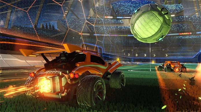 Rocket League traz um esporte caótico com corrida de carros e uma bola gigante para o PlayStation 4 (Foto: Reprodução/IGN)