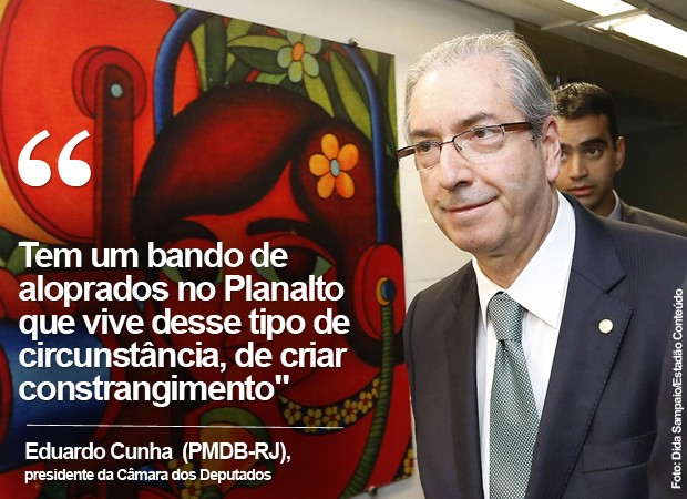 """Eduardo Cunha fala sobre """"aloprados no Planalto"""" (Foto: Dida Sampaio/Estadão Conteúdo)"""