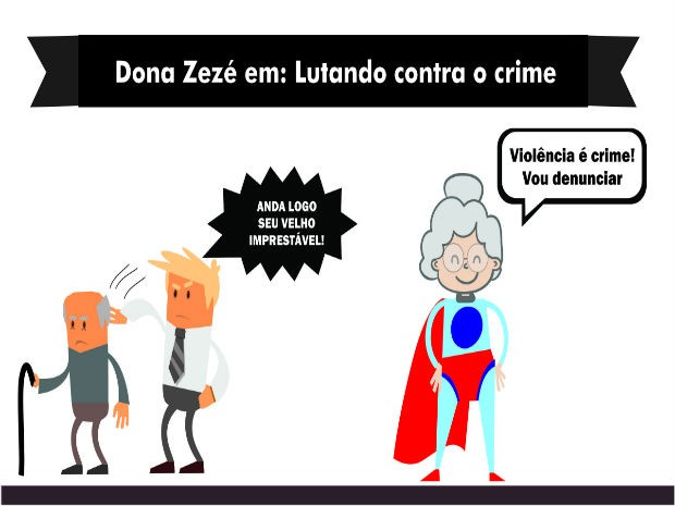 Estudantes criaram personagem para falar dos direitos dos idosos (Foto: Arquivo Pessoal)