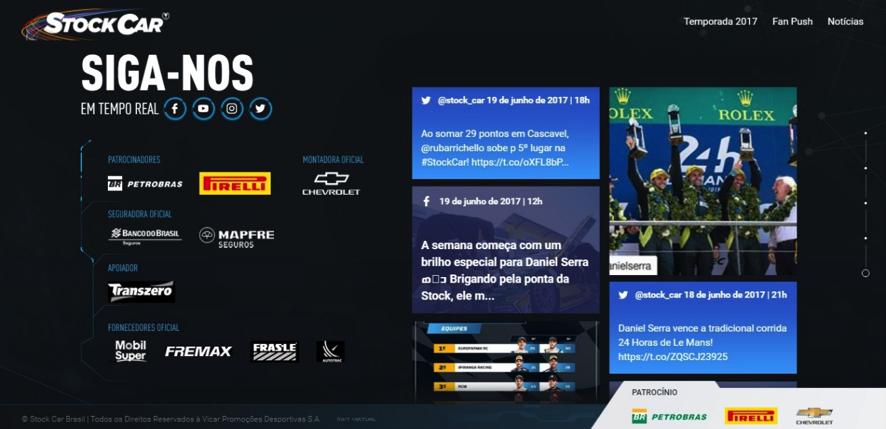 Reprodução de tela do novo visual do site (Foto: Divulgação/Vicar)