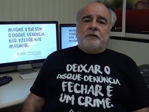 Zeca Borges é o coordenador do Disque-Denúncia (Foto: Reprodução/Youtube)