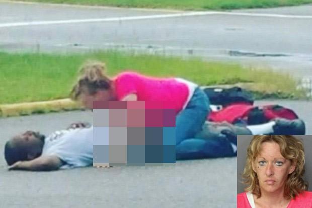 Kimberly Jackson foi presa por fazer sexo com homem completamente bêbado (Foto: Norfolk Police)