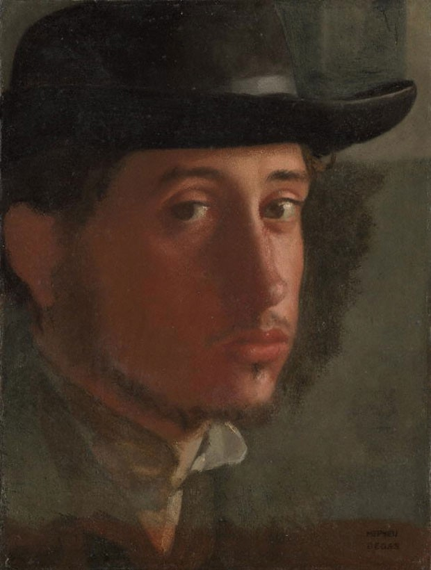 Autorretrato de Edgar Degas foi feito entre 1857 e 1858 (Foto: Cortesia/Getty's Open Content Program)
