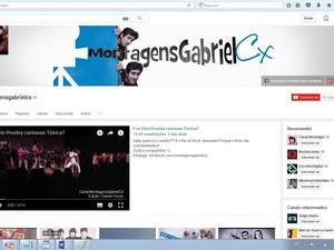 Gabriel Xaviaer mantém uma página do YouTube (Foto: Reprodução / YouTube)