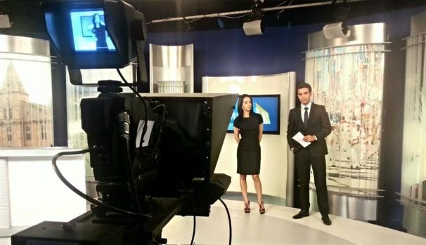 Maira Botelho e Thiago França - MG Inter TV 1ª Edição (Foto: Rafael Gamboa/Inter TV Grande Minas)