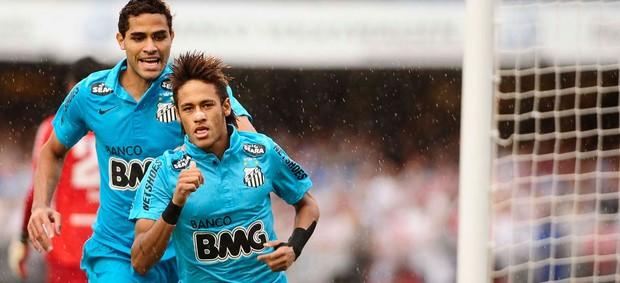 neymar santos gol são paulo (Foto: Marcos Ribolli / Globoesporte.com)