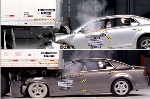 Vídeo Mostra Testes De Colisão De Carros Em Caminhões Auto Esporte