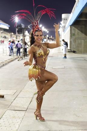 Gracyanne Barbosa em ensaio técnico da X9 Paulistana no sambódromo do Anhembi, em São Paulo (Foto: Leo Franco/ Ag. News)