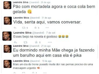 Leandro, cabofriense, posts no twitter (Foto: Reprodução)