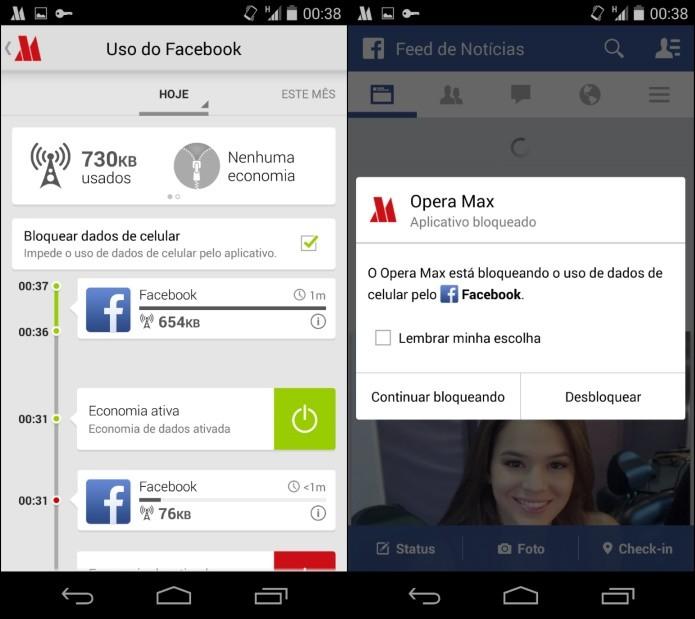 Uso de dados desativado para o aplicativo do Facebook (Foto: Reprodução/Helito Bijora)