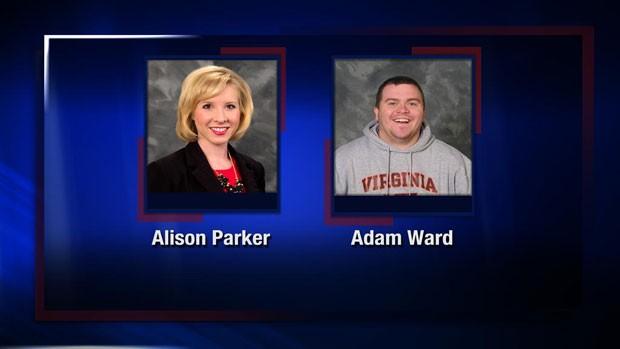 Canal WDBJ7 postou em seu perfil no Twitter fotos de Alison Parker e Adam Ward em homenagem: 'Nós amamos vocês, Alison e Adam' (Foto: Reprodução/Twitter/WDBJ7)