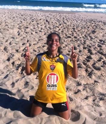 Cecília Viana, acreana que joga no Vitória (Foto: Cecília Viana/Arquivo Pessoal)