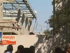 Operários caem de altura de 9 metros após viga de obra despencar em SP