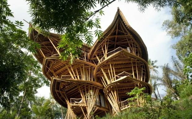 Casas integradas  natureza no abrem mo do luxo (Foto: Divulga / Ibuku )