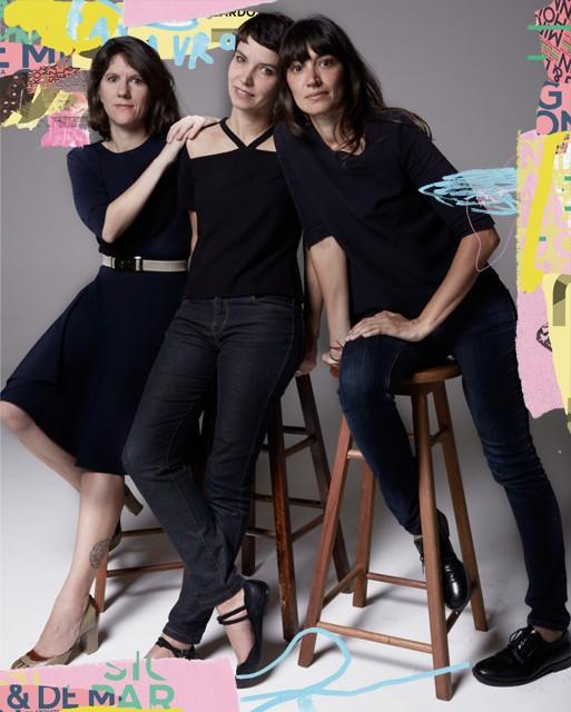 Gisela Gasparian, Elaine Ramos e Florencia Ferrari, o trio por trás da novíssima Ubu (Foto: Foto: Bob Wolfenson - Ilustração: Zé Otavio)