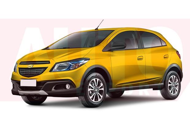 Projeção Chevrolet Onix Cross (Foto: Autoesporte)