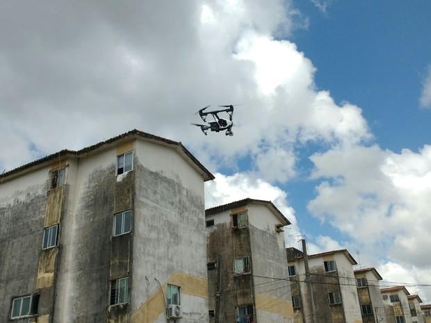 drone curado aedes aegypti (Foto: José Dilermano Wanderley/TV Globo)