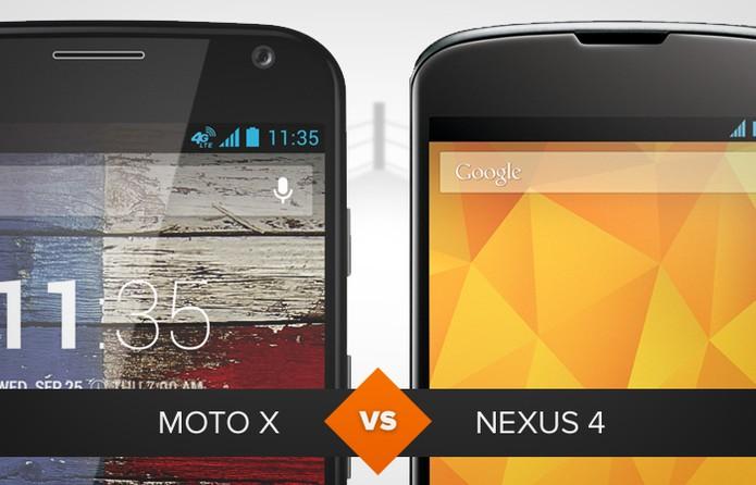 Moto X ou Nexus 4? Confira o vencedor no comparativo do TechTudo (Foto: Arte/TechTudo)
