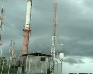 Nova torre instalada em Vassouras (Foto: RJTV 2ª Edição)