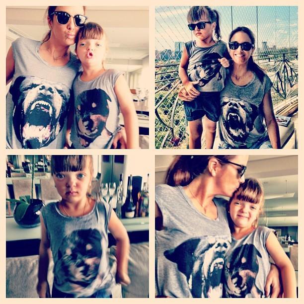 Ticiane Pinheiro e rafinha com a mesma roupa (Foto: Instagram / Reprodução)