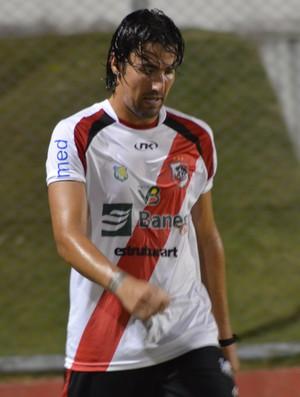 Kível fez gol mas foi expulso  (Foto: Felipe Martins/GLOBOEPSORTE.COM/SE)
