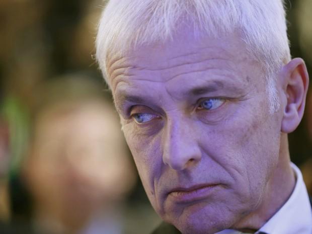 Mathias Müller, presidente mundial do grupo Volkswagen, no Salão de Detroit 2016 (Foto: Mark Blinch/Reuters)