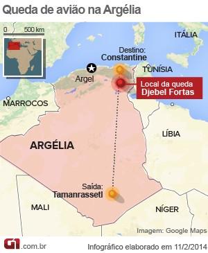 mapa queda avião argélia 11/2 v. 2 (Foto: 1)